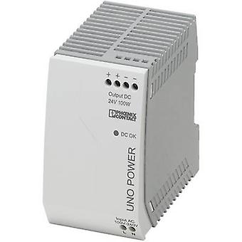 Rail mounted PSU (DIN) Phoenix Contact UNO-PS/1AC/24DC/100W 24 Vdc 4.2 A 100 W 1 x
