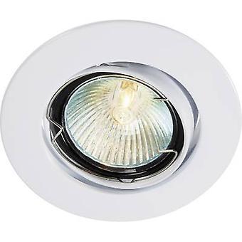 Flush mount luz HV halógena G5.3 35 W Basetech CT-3107 MR16, blanco blanco