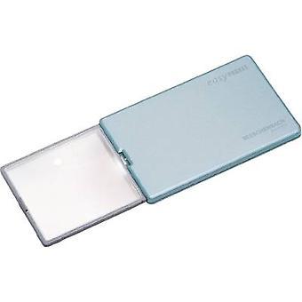 Handheld magnifier incl. LED lighting Magnification: 4 x Lens size: (L x W) 86 mm x 54 mm Blue Eschenbach 152122