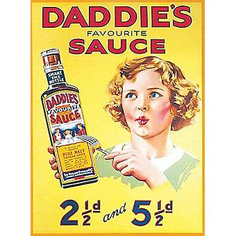 Daddies Sauce Small Metal Sign 200Mm X 150Mm