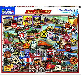 All Aboard 1000 Piece Jigsaw Puzzle 750 X 600 Mm