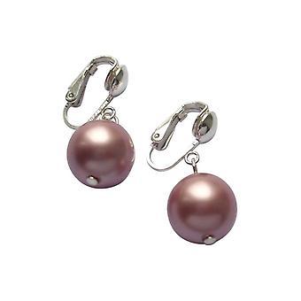 Gemshine - ladies - earrings - bead 925 Silver - 12 mm - Tahiti - rose-