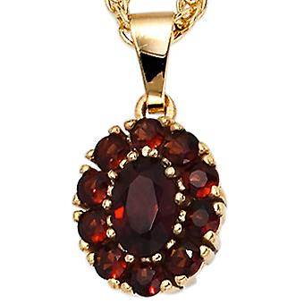 Garnet Garnet pendants pendants 375 gold yellow gold 11 grenade Red