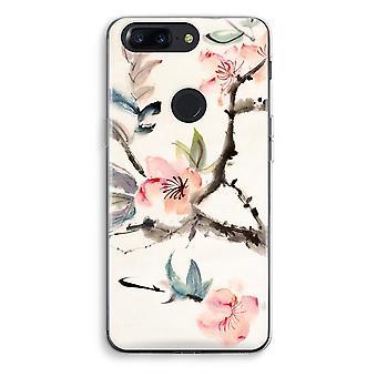 OnePlus 5T Transparent Case (Soft) - Japenese flowers