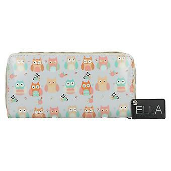 Ella Damen besitzen Print Zip rund Handtasche 73112