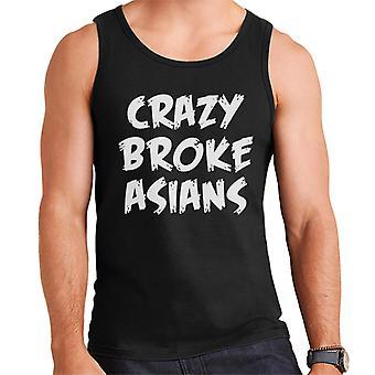 Crazy Broke Asians White Text Men's Vest