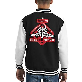 Starship Troopers Ricos Roughnecks Red Logo Kid's Varsity Jacket