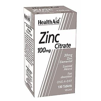 Health Aid Zinc Citrate 100's Tablets