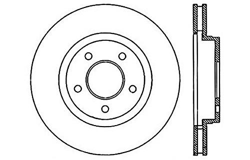 StopTech 127.62068R Sport Drilled Slotted Brake rougeor (Front Right), 1 Pack
