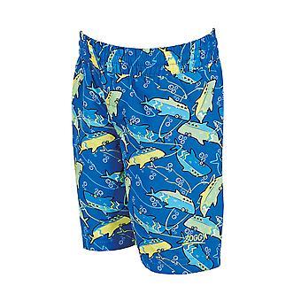 Zoggs ジュニア男子水泳パンツ青/緑 1-6 歳の子供のため