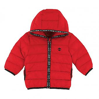 Timberland Juniors Puffer cappotto (rosso)