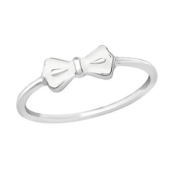 Bow - 925 Sterling Silver Plain Rings - W23484X
