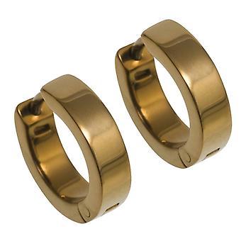 Ti2 Titanium Flat Hoop Cuff Earrings - Tan Beige