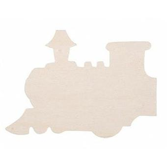 6 Large Wooden Train Shapes | Wooden Shapes for Crafts