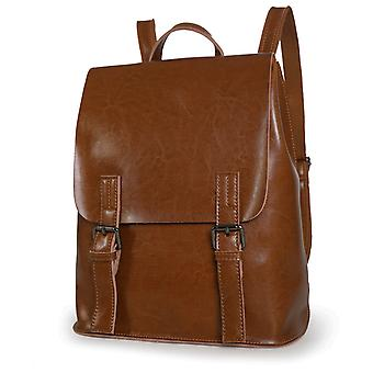 Backpack in genuine cow leather, 31x27x10 cm
