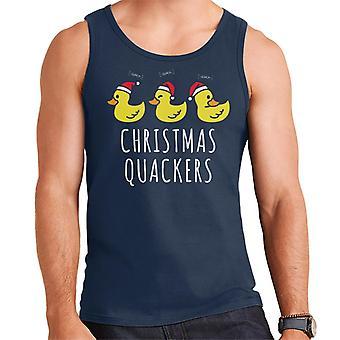 Christmas Quackers Men's Vest