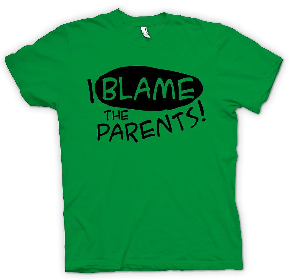 Mens T-shirt - I Blame The Parents - Funny Joke