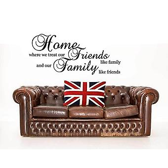Friends Family Home Wall Quote Sticker