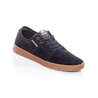 Supra Black-Gum Stacks II Shoe