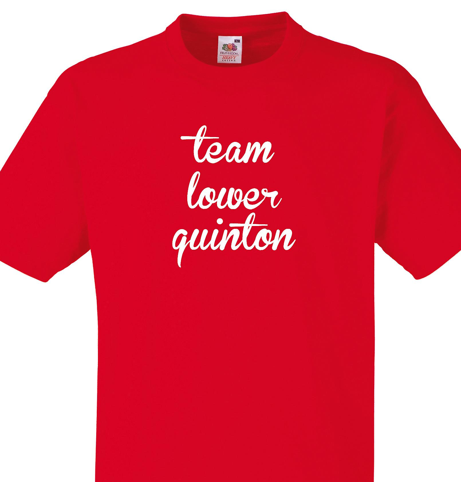 Team Lower quinton Red T shirt
