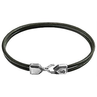 Anchor and Crew Cromer Round Leather Bracelet - Azure Blue
