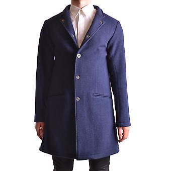 Armani Jeans Blue Wool Coat