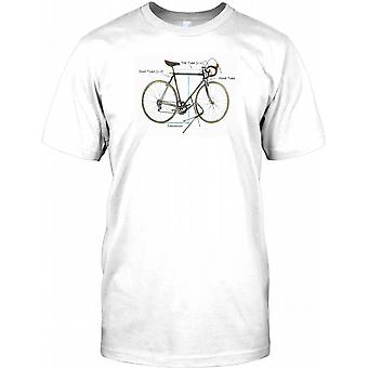 Classic Racing Zyklus - coole Biker-Herren-T-Shirt