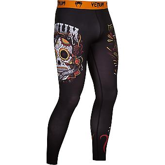 Venum Mens Santa Muerte 2.0 Compression Spats Pants - Black