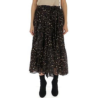 Ulla Johnson Black Silk Skirt