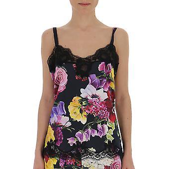 Dolce E Gabbana Lingerie de seda Multicolor Ensemble