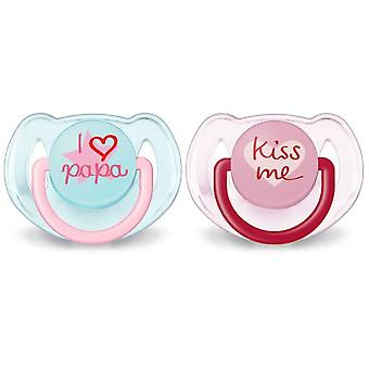 Avent Pacifiers Classic Texts 6 to 18 Months 2 units