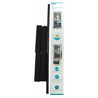 Hands Free Door Insect Fly Screen Kitchen Bug Curtain Black
