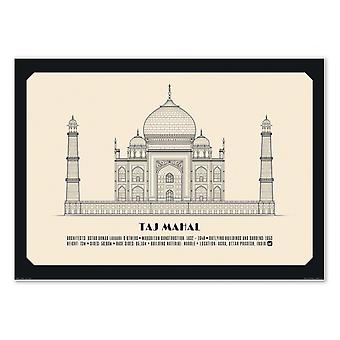 Konst-affisch-Taj Mahal-Lionel Darian 50 x 70 cm