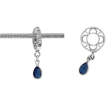 Storywheels Silver With Sapphire Dangle Charm S012S