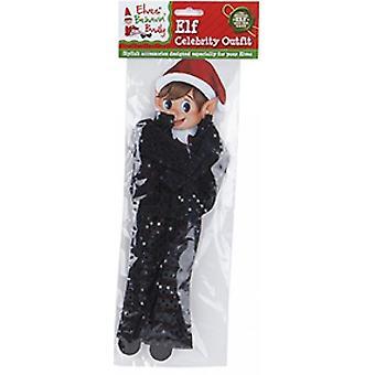 Elfen Behavin Schlecht - Elf Pailletten Promi Outfit - schwarz