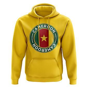 Cameroon Football Badge Hoodie (Yellow)