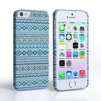 Caseflex iPhone 5and5S Fairisle Case – Blue with Blue Background