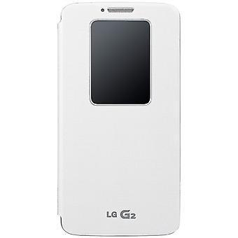 LG QuickWindow Folio Case for LG G2 Sprint/Virgin Mobile/AT&T - White
