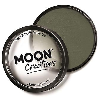 Moon Creations - Pro Face & Body Paint Cake Pots - Army Green