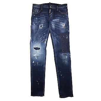 DSquared2 slim fit jeans met noodlijdende denim