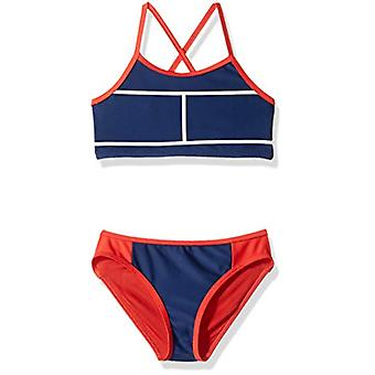 Tommy Hilfiger Big Girls' Two-Piece Swimsuit, Flag Blue,, Flag Blue, Size 7