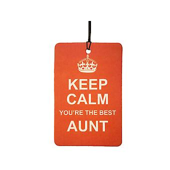 Keep Calm You're The Best Aunt Car Air Freshener