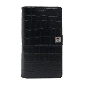 Medium Universal Slider Folio - Croc Black
