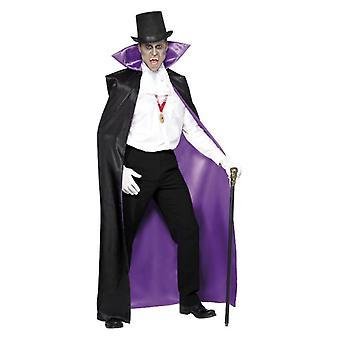 Mens Conde Drácula reversible Cape Halloween accesorio de disfraces