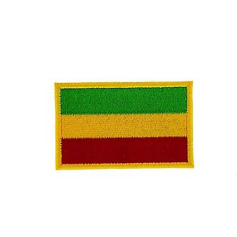 Patch Ecusson Brode Drapeau Backpack Ethiopie Rasta Thermocollant