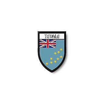 Patch Ecusson Termocollant Bord Brode Drapeau Imprime Tuvalu