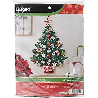 Nordische Baum Advent Kalender Filz Applikation Kit-17