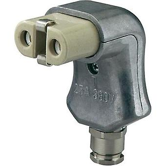 Hot wire connector ATT.LOV.SERIES_POWERCONNECTORS 344 Socket, right angle Total number of pins: 2 + PE 16 A Aluminium