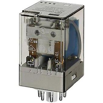 Plug-in relay 12 Vdc 10 A 2 change-overs Finder 60