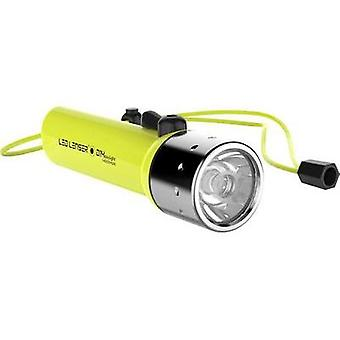 LED Diving torch Wrist strap LED Lenser D14.2 Daylight battery-powered 300 lm 233 g Neon yellow